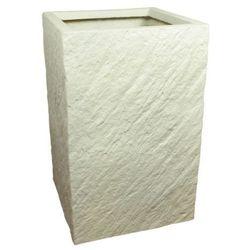 Donica kompozytowa Cermax kwadrat 24 x 24 x 38 cm biały