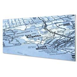 Szklany Panel Mapa miasta