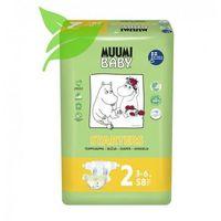 Pieluchy jednorazowe, MUUMI Baby Pieluchy 2 Mini 58szt pieluszki hipoalergiczne i ekologiczne (3-6kg)
