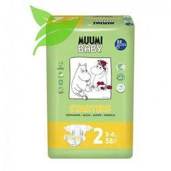 MUUMI Baby Pieluchy 2 Mini 58szt pieluszki hipoalergiczne i ekologiczne (3-6kg)