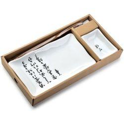 SUSHI Zestaw dla 1 os. biały litery