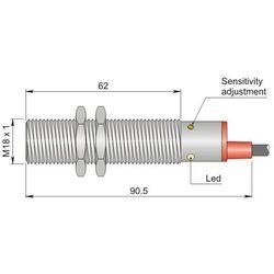 NOWOŚĆ Czujnik pojemnościowy Fi 18 mm SC18SM-C5 NPN NO+NC LC5