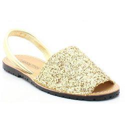MARIETTAS 550 ZŁOTY - Hiszpańskie skórzane sandały minorki - Złoty DZIEŃ MATKI (-20%)