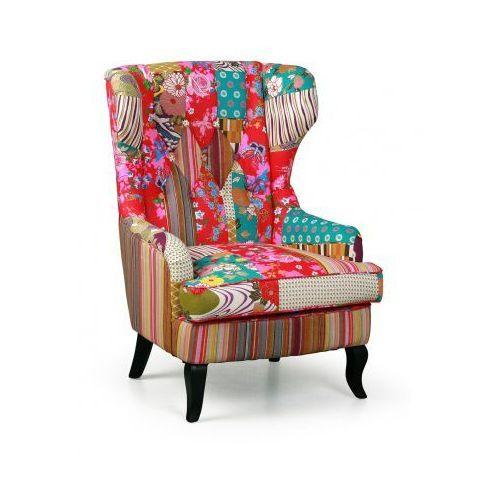 Fotele i krzesła biurowe, Fotel Patchwork typu uszak