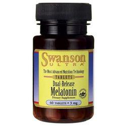 Melatonina podwójne uwalnianie Dual-Release Melatonin 3mg 60 tabletek SWANSON