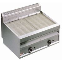 Grille gastronomiczne, Płyta grillowa gazowa ryflowana nastawna | 780x470mm