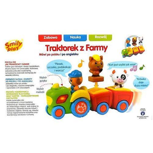 Traktory dla dzieci, Traktorek z farmy Smily play - Happy Kid Toy Group