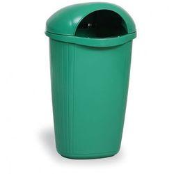 Zewnętrzny kosz na odpady na słupek DINOVA, jasnozielony