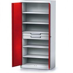 Szafa warsztatowa MECHANIC, 1950 x 920 x 500 mm, 5 półki, 2 szuflady, czerwone drzwi