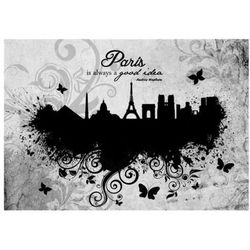 Fototapeta - Paris is always a good idea - black and white