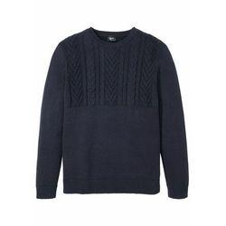 Sweter bonprix ciemnoniebieski