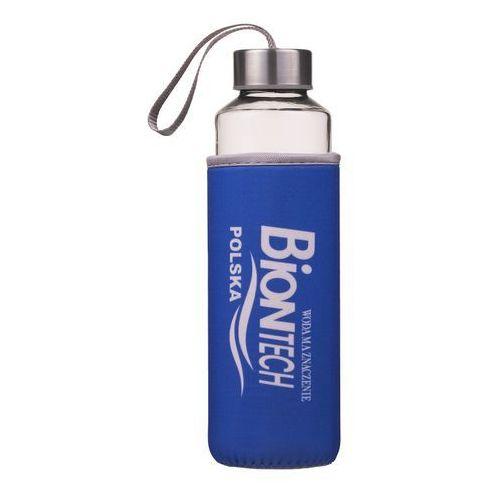 Bidony i koszyki, Butelka szklana na wodę 0,5l Bidon BPA free