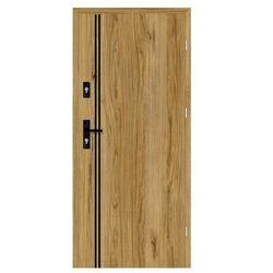 Drzwi wejściowe otwierane na zewnątrz HERMES Dąb Catania 90 Prawe NAWADOOR