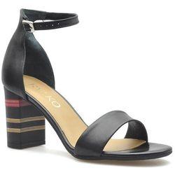 Sandały Ryłko 9HD86_t4_22F Czarne lico