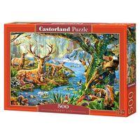 Puzzle, Puzzle 500 Forest Life - Castor OD 24,99zł DARMOWA DOSTAWA KIOSK RUCHU
