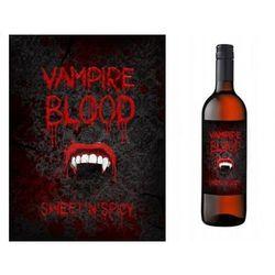 Etykiety na butelkę Krew Wampira - Vampire Blood, 10 szt.