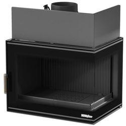 Wkład kominkowy NORDflam Torn Eko 12 kW żeliwny stalowy prawa szyba