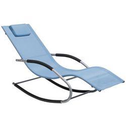 Leżak niebieski tekstylny bujany CARANO