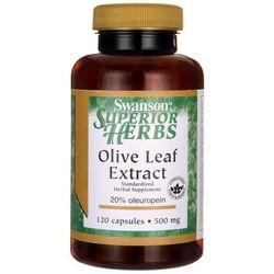 Liść oliwny ekstrakt Olive Leaf Extract 500mg 120 kapsułek SWANSON