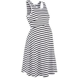 Sukienka ciążowa shirtowa w paski bonprix czarno-biały w paski
