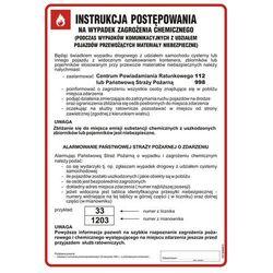 Instrukcja postępowania na wypadek zagrożenia chemicznego
