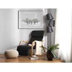 Fotel bujany tapicerowany czarny WESTON