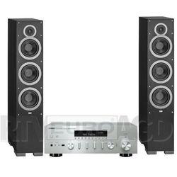 Yamaha MusicCast R-N602 (srebrny), Elac Debut F6 (czarny)