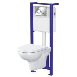 Zestaw podtynkowy WC Cersanit Neso bezkołnierzowy z deską woloopadającą