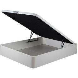 Stelaż ze skrzynią ONIRY z ekoskóry marki DREAMEA Play - 160x200 cm - biały mat