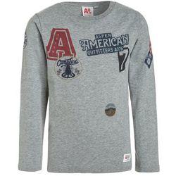 American Outfitters ALL OVER PRINT BADGES Bluzka z długim rękawem heather oxford