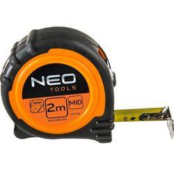 Miara zwijana NEO 67-111 stalowa z magnesem 25 mm (8 m)