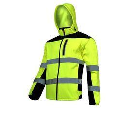 """LAHTI PRO L4091906 Kurtka SOFT-SHELL ostrzegawcza z odpinanymi rękawami, żółta, """"3XL"""", CE"""