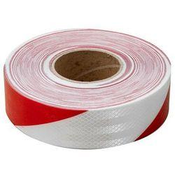 Taśma odblaskowa samoprzylepna biało-czerwona - rolka 45 m