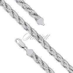 Bransoletka ozdobna srebrna taśma pleciona warkocz pr. 925 Ø 040 waga od 7,0g - 7,4 mm