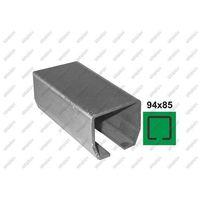 Przęsła i elementy ogrodzenia, Profil do bramy przesuwnej Fe, 94x85x5mm, L6m