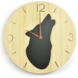 Zegar ścienny - Wild I - Wolf