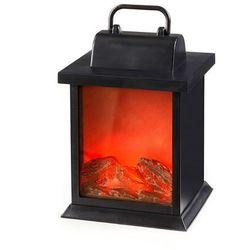 Lampion z efektem ognia z kominka bonprix czarny
