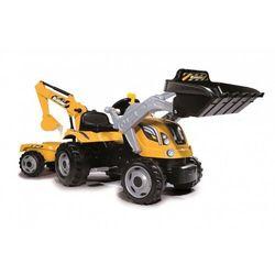 Smoby farmer max żółty traktor na pedały przyczepa koparka