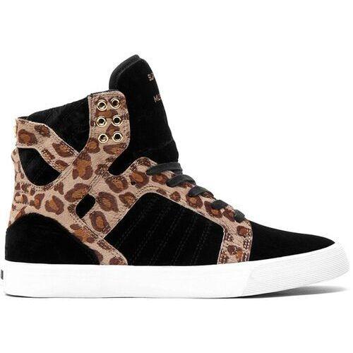 Damskie obuwie sportowe, buty SUPRA - Skytop Black/Cheetah - White (BCT) rozmiar: 38.5