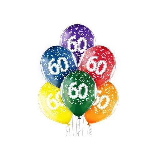 """Pozostałe wyposażenie domu, Balony transparentne z nadrukiem """"60"""" - 12 cali - 6 szt."""