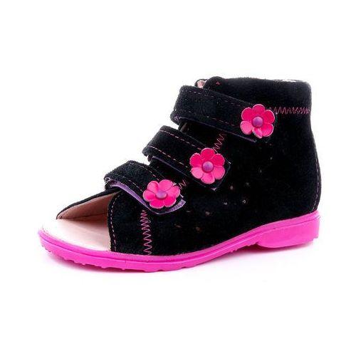 Obuwie profilaktyczne dziecięce, Buty profilaktyczne Dawid model 1041/1042 CZR czarny - róż