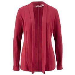 Żakiet dresowy z bawełny organicznej, długi rękaw, przyjazny dla środowiska bonprix pomarańczowo-czerwony