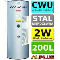 TERMICA 200L 2W Economy Nierdzewka z 2 Wężownicami, Zbiornik Podgrzewacz CWU Wymiennik Bojler Nierdzewna Stal, wysyłka gratis