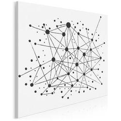 Strumień świadomości - nowoczesny obraz na płótnie - 80x80 cm