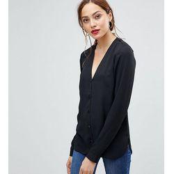 ASOS DESIGN Tall v neck blouse - Black