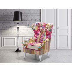 Fotel wypoczynkowy kolorowy do salonu tapicerowany - MOLDE