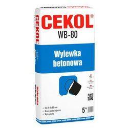 Wylewka betonowa WB-80 5 kg CEKOL