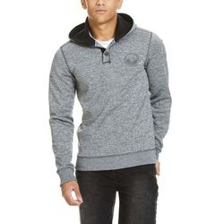 bluza BENCH - Bonded Waffle Hoodie With Placket Total Eclipse (NY031)
