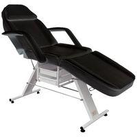 Pozostałe salony fryzjerskie i kosmetyczne, Fotel kosmetyczny manualny BASIC z kuwetami czarny