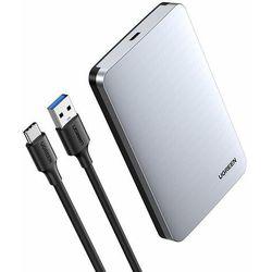 Ugreen kieszeń na dysk HDD SSD obudowa dysku SATA III (6 Gbps) 2,5'' USB 3.2 Gen 2 USB Typ C + kabel 0,5 m szary (70499 CM300)